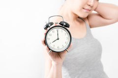 The alarm clock waking up in the morning from a call Royalty Free Stock Images