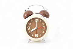 Alarm clock on white Stock Photos