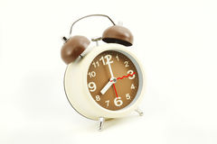 Alarm clock on white Stock Images