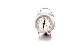 Alarm Clock White Royalty Free Stock Photos