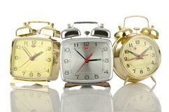 Alarm clock on white Stock Photography