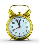 Alarm clock on white background Royalty Free Stock Photo