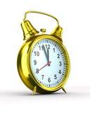 Alarm clock on white background Stock Images
