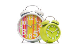 Alarm clock  on the white background Stock Photo
