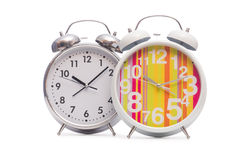Alarm clock  on the white background Royalty Free Stock Images