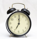 Alarm clock on white background Royalty Free Stock Photos