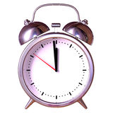 Alarm Clock on white background Stock Photos