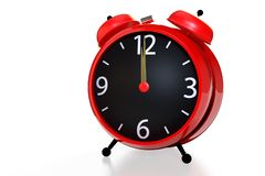 Alarm clock white background. stock photography