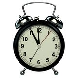 Alarm clock on white background. 3D royalty free stock photo