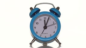 Alarm clock on white background stock video footage