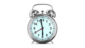 Alarm clock on white background. Isolated 3D stock video footage