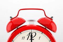Alarm clock on white background Royalty Free Stock Photography