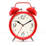 Alarm clock on white background Stock Images