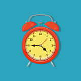 Alarm clock. On white background. Vector illustration. Eps 10 Stock Photography
