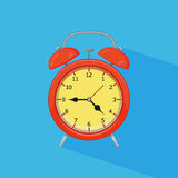 Alarm clock. On white background. Vector illustration. Eps 10 Stock Photos