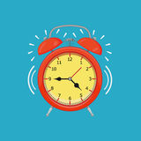 Alarm clock. On white background. Vector illustration. Eps 10 Royalty Free Stock Photo