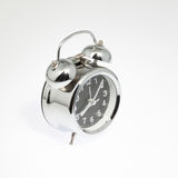 Alarm clock on white Royalty Free Stock Images