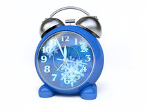 Alarm Clock With Winter Clock-Face. In 3D, My Clocks Collection Royalty Free Stock Images