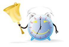 Alarm Clock With A Bell Stock Photography