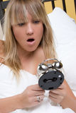 Alarm Clock Woman Royalty Free Stock Photography