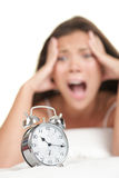Alarm Clock Woman Late Stock Photography