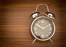 Alarm Clock On Wooden Background Royalty Free Stock Images