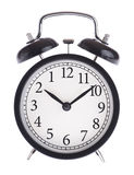 Alarm clock with the wrong dial stock image