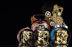 Alarm clocks backgrounds Royalty Free Stock Photography