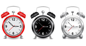 Alarm clocks collection Royalty Free Stock Photography