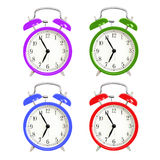 Alarm clocks isolated on white background Royalty Free Stock Photo