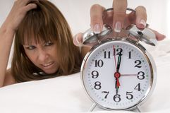 Alarm-clocks rings royalty free stock photo