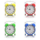 Alarm clocks set Stock Photo