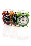 Alarm clocks vertical Royalty Free Stock Images