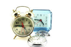 Alarm clocks and watches Royalty Free Stock Image