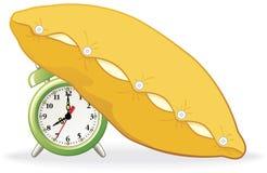 Alarm dat met hoofdkussen wordt behandeld vector illustratie