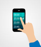 Alarm for Different Electronic Devices Concept. Royalty Free Stock Photography