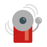Alarm fire emergency alert icon. Vector illustration eps 10 Stock Photography