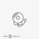 Alarm fire vector icon. Outline alarm fire vector icon on grey background Royalty Free Stock Image