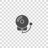 Alarm fire vector icon. On white background Stock Photography