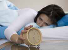 Alarm - focus on alarm Stock Image
