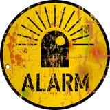 Alarm, alarm, gevaar, waarschuwingsbord, vectorillustratie vector illustratie