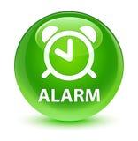 Alarm glassy green round button Stock Photo