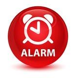 Alarm glazige rode ronde knoop Royalty-vrije Stock Fotografie