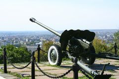 Alarm-gun in Saratov city Royalty Free Stock Photos