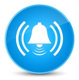 Alarm icon elegant cyan blue round button Royalty Free Stock Images