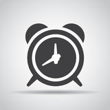 Alarm icon with shadow on a gray background. Vector illustration royalty free illustration