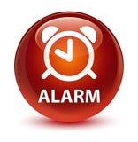 Alarm glassy brown round button Royalty Free Stock Photo