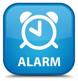 Alarm special cyan blue square button Royalty Free Stock Image