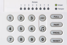 Alarm Keypad Royalty Free Stock Photo