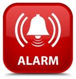 Alarm (klokpictogram) speciale rode vierkante knoop Stock Foto